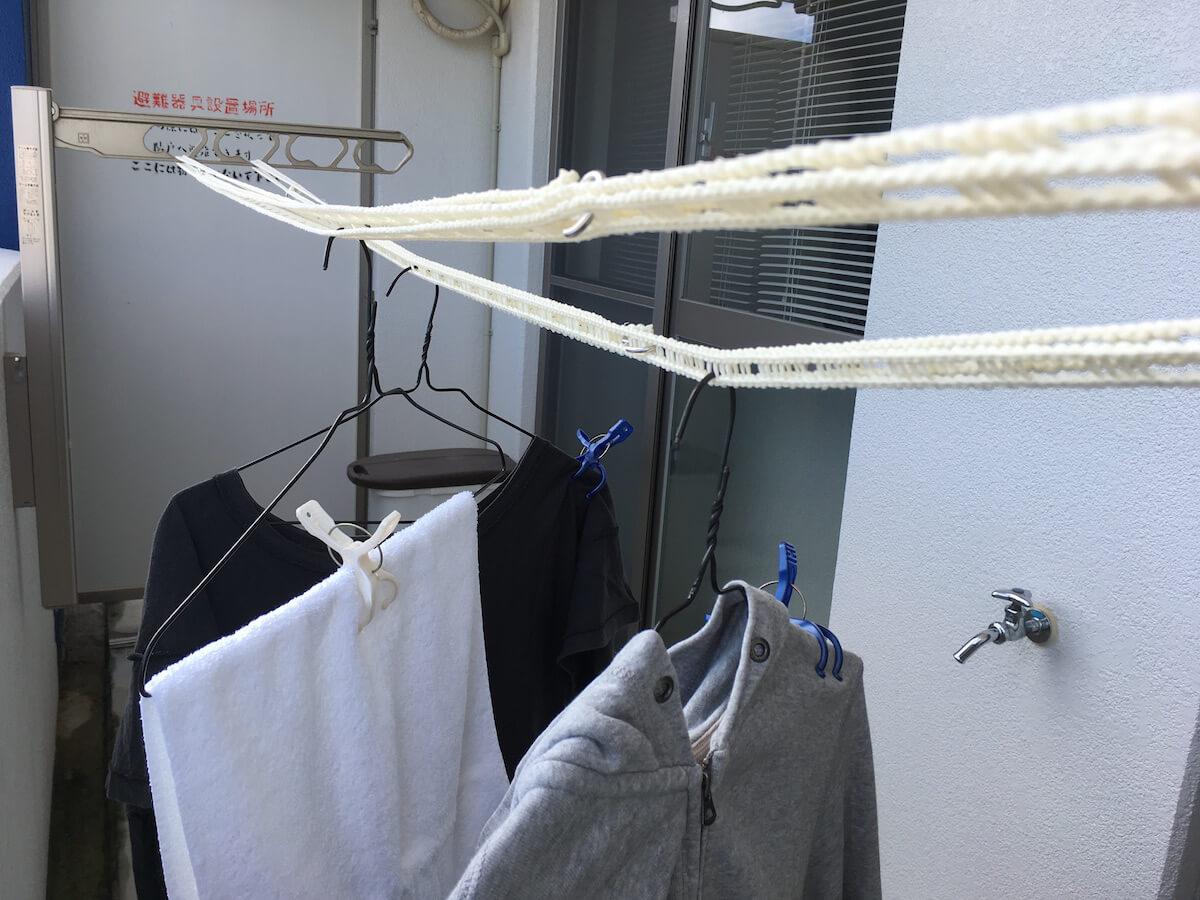 洗濯物を干してみる