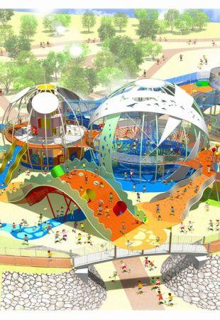 2017年7月28日(金)~8月31日(木)新遊具施設「命の卵」 / 糸満市・平和祈念公園