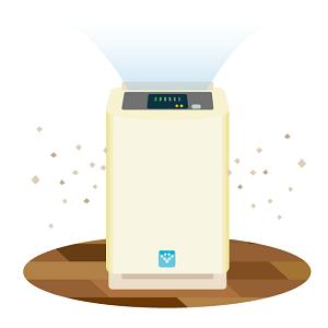 プラズマクラスター加湿空気清浄機KC-H50でインフル&花粉症予防を!