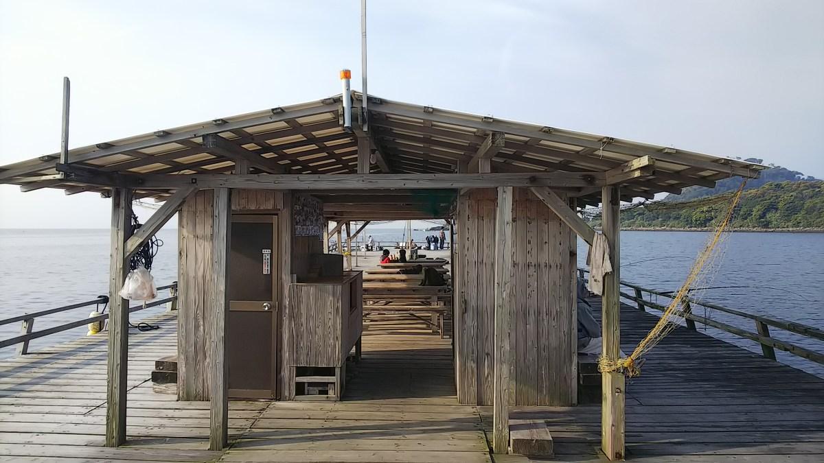 親子で釣り筏 隼人の海に行ってきました