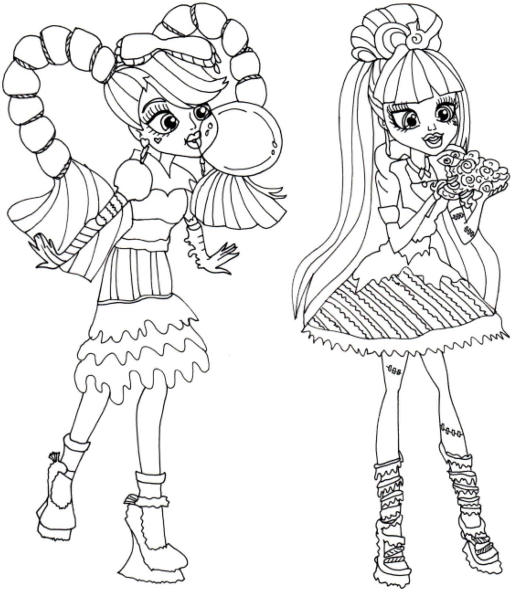 monster high coloring pages free printable free coloring pages