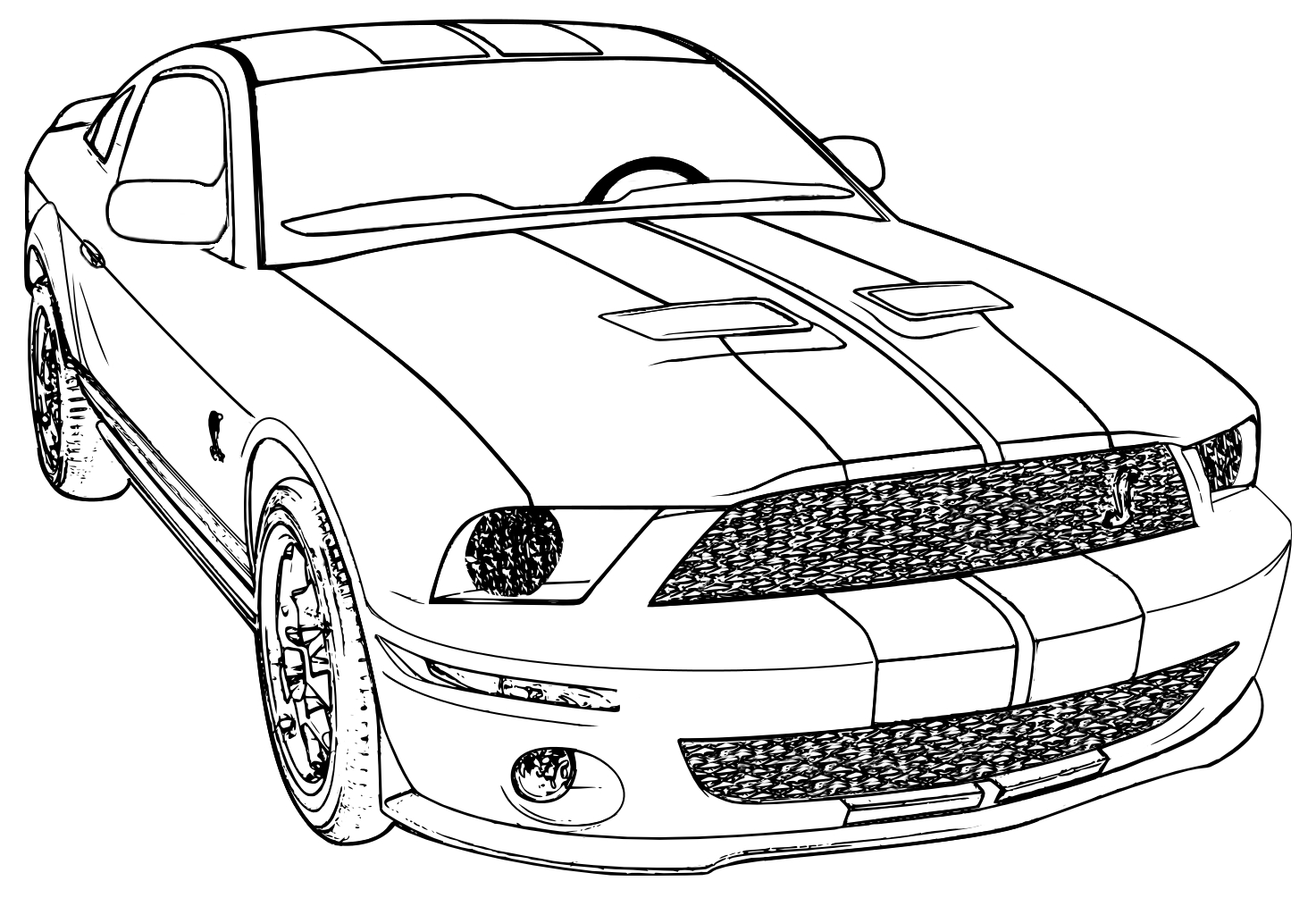 Mustang Coloring Page Free Coloring Pages Download | Xsibe ferrari ...