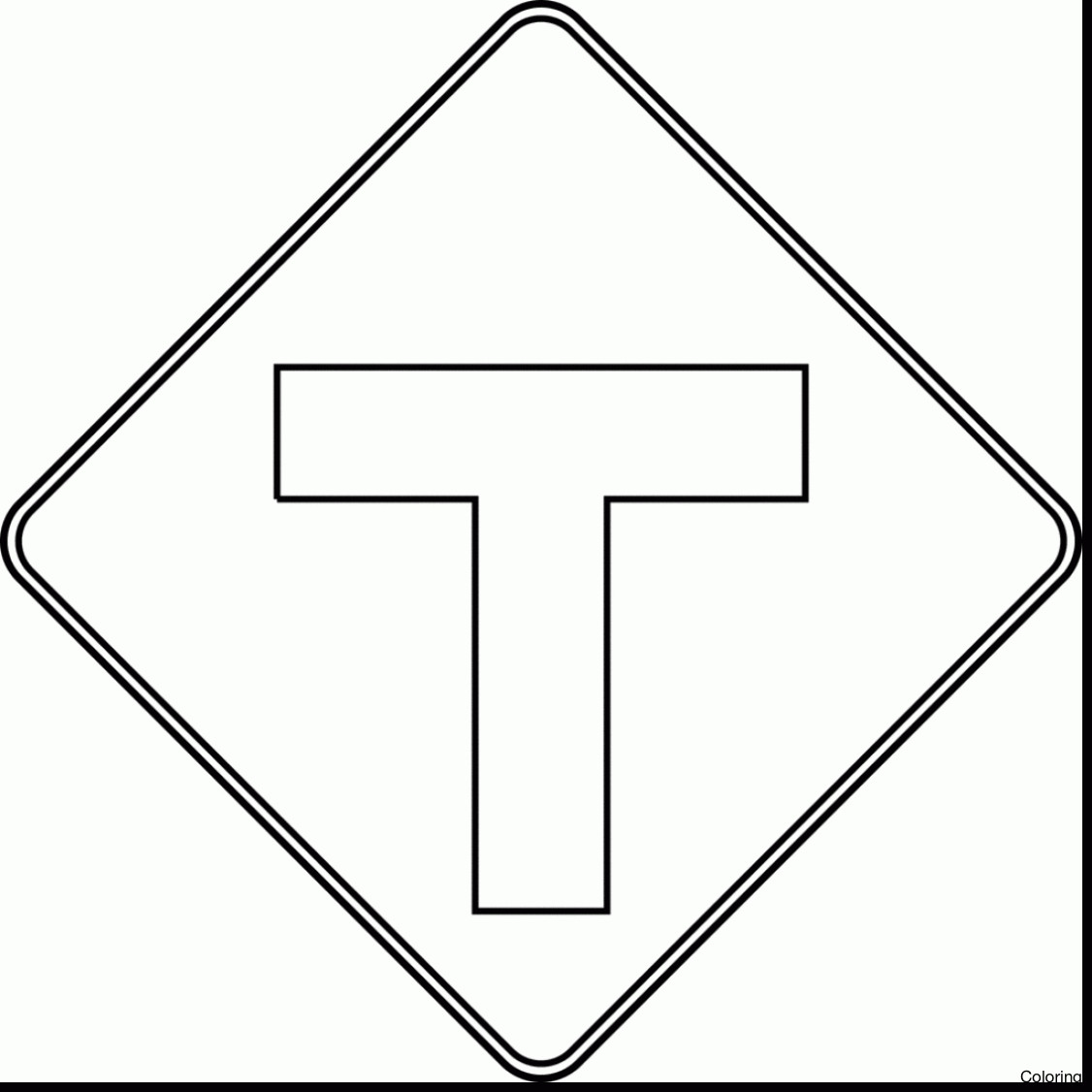 Safety Signs Coloring Pages Gallery