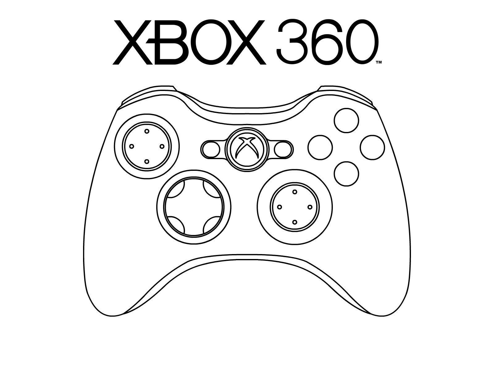 Xbox Coloring Pages To Print
