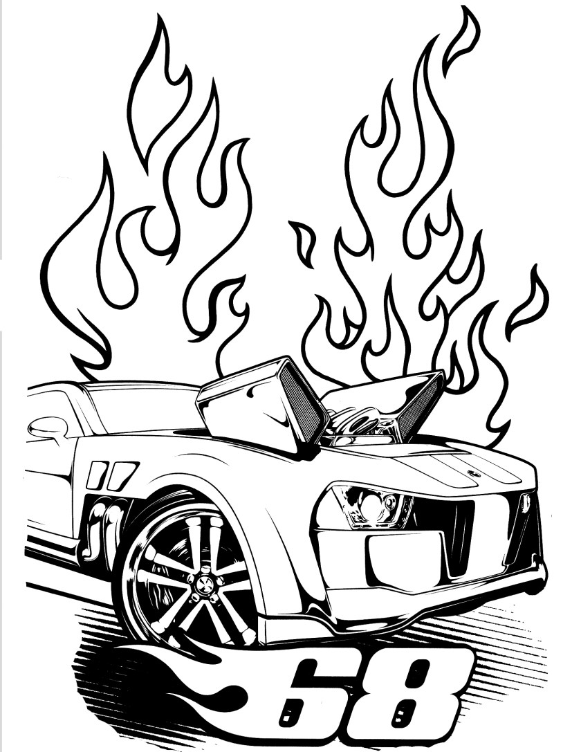 hot rod coloring pages to print printable  free coloring