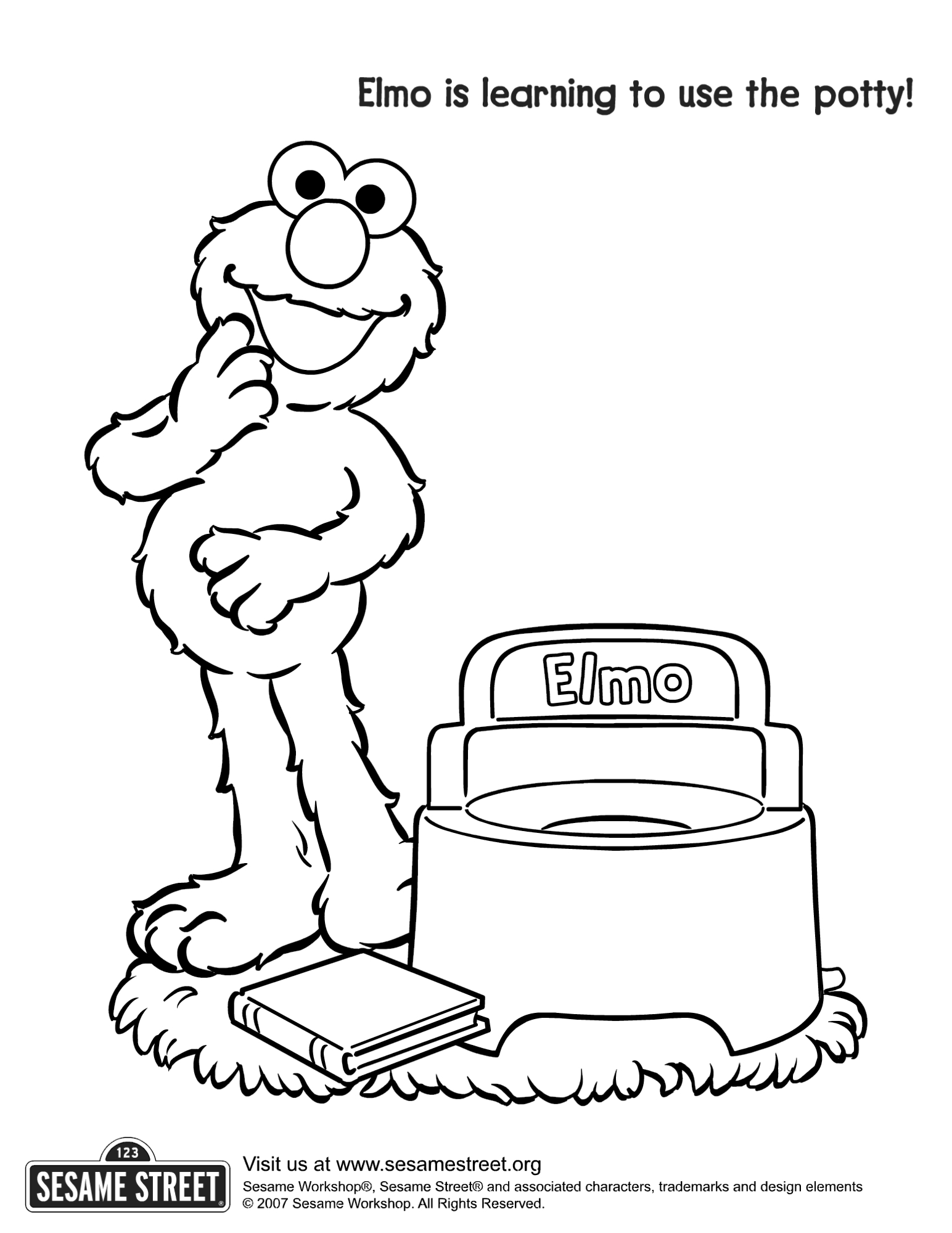 Toilet Training Coloring Pages Sketch Coloring Page
