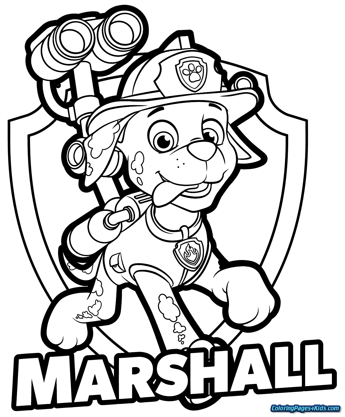 Paw Patrol Coloring Pages Printable