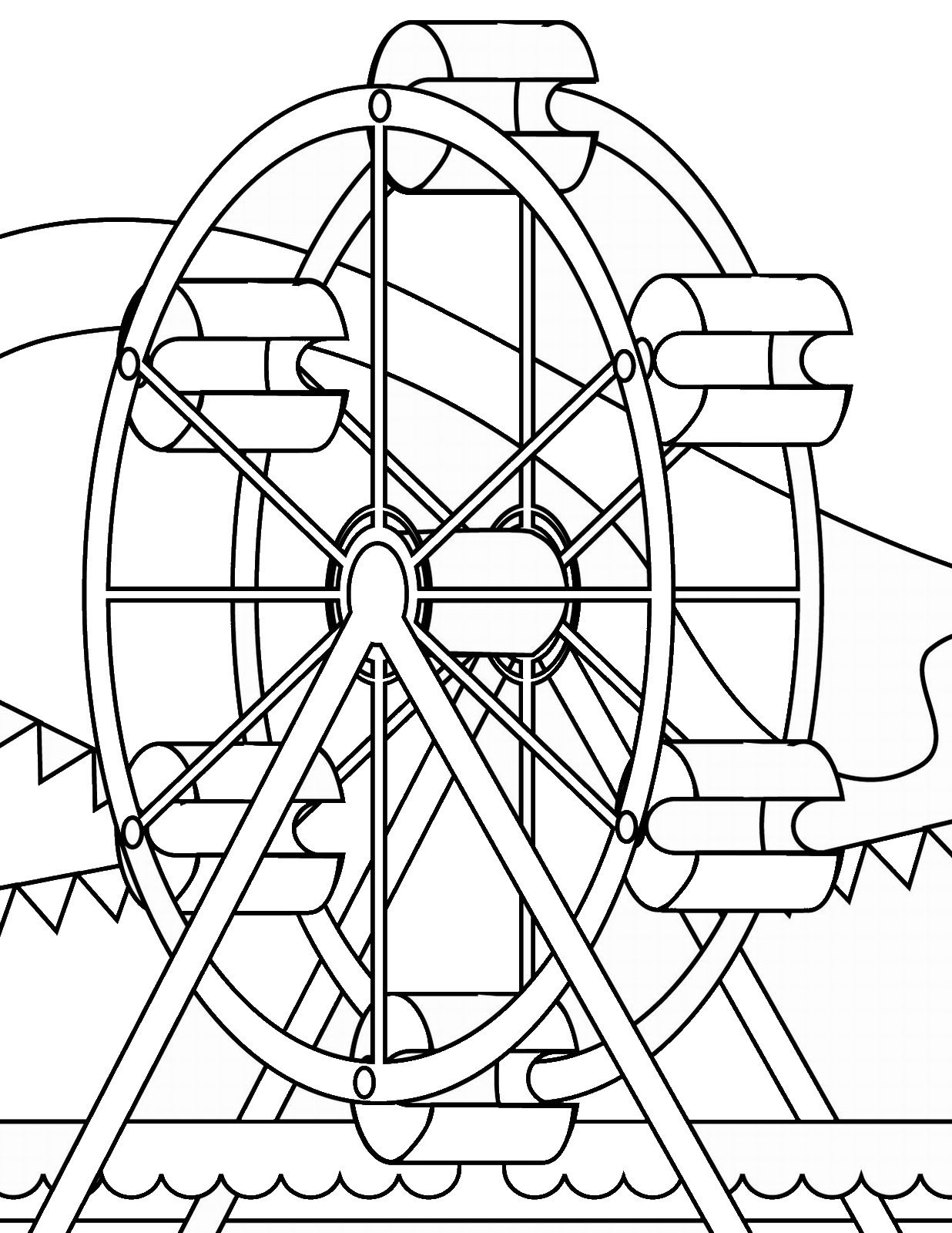 Ferris Wheel Coloring Pages To Print
