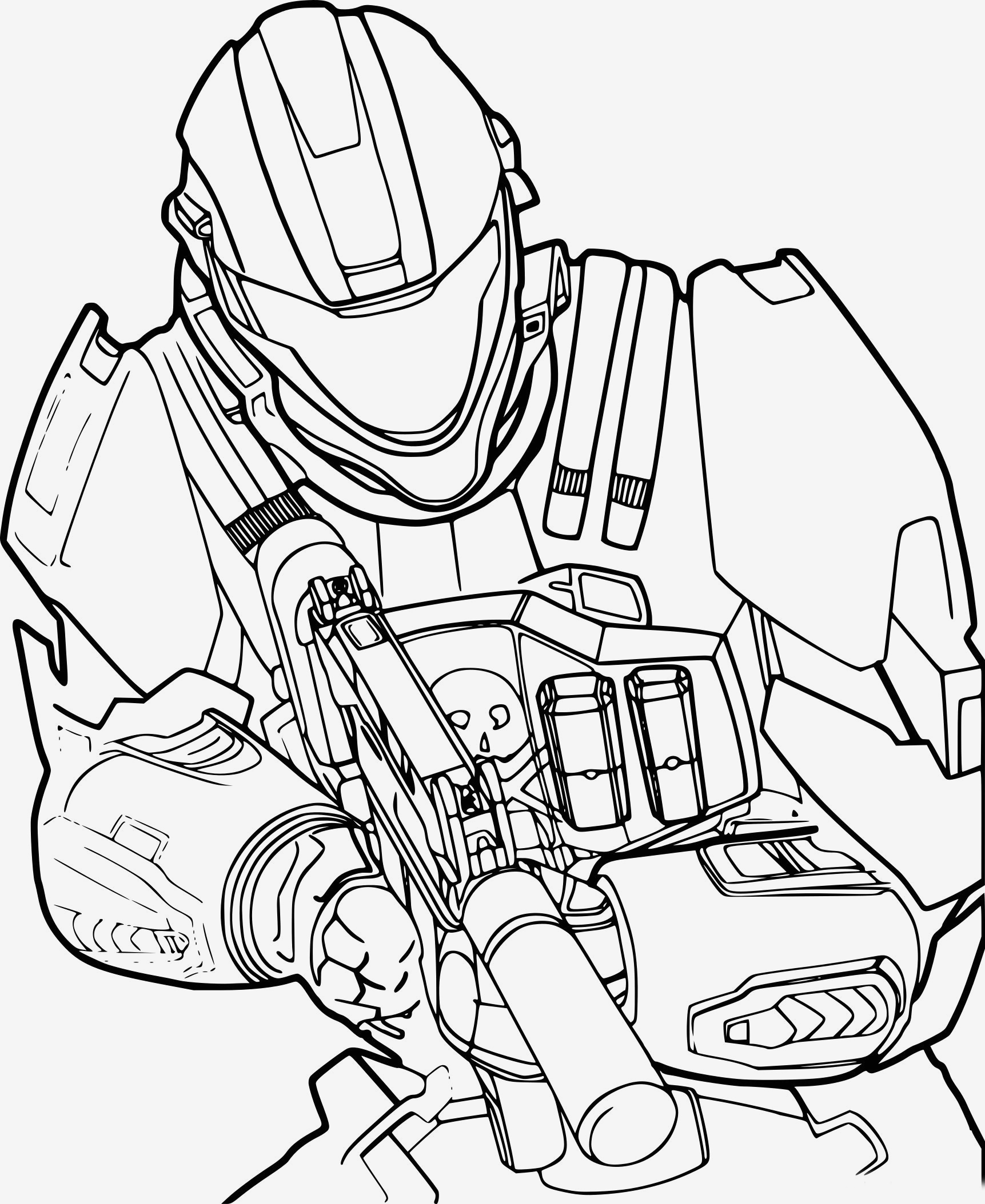 Halo Coloring Pages Download