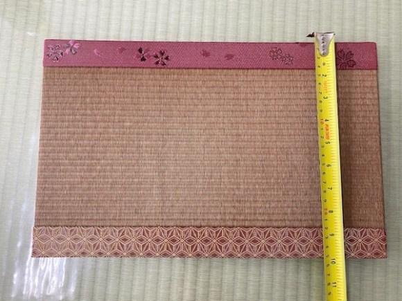 今回のミニ畳のサイズ 幅