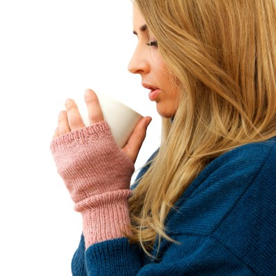 CUTE SHORT FINGERLESS MITTENS