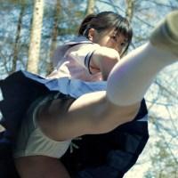 パンツを丸出しにしながら一生懸命キックする女の子が最高なエロ画像まとめ 47枚