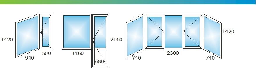 Окна в двухкомнатной распашной квартире дома П44ТМ Э