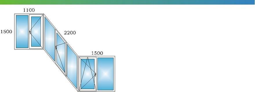 Пластиковые окна на лоджии сапожок дома П3 с размерами С