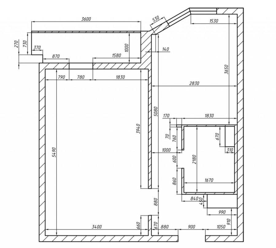 Планировка однокомнатной квартиры в доме серии П44ТМ