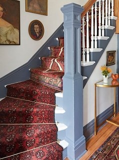 A Gorgeous Vintage Runners Diy Idea For Your Stairs   Stick On Stair Runners   Steel Gray   Bullnose Carpet   Stair Riser   Area Rugs   Non Skid Carpet