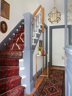 A Gorgeous Vintage Runners Diy Idea For Your Stairs | Small Rugs For Stairs | Area Rug | Stair Tread | Wood | Stair Rods | Stair Case