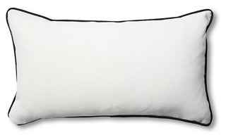 newport 14x24 lumbar pillows white black