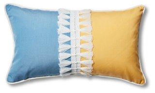 kit 13x22 outdoor lumbar pillow blue yellow