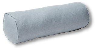 anne bolster pillow smoky blue linen