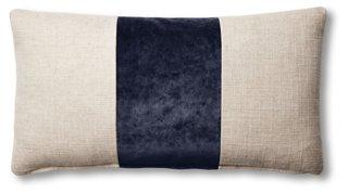 blakely 12x23 lumbar pillow natural navy