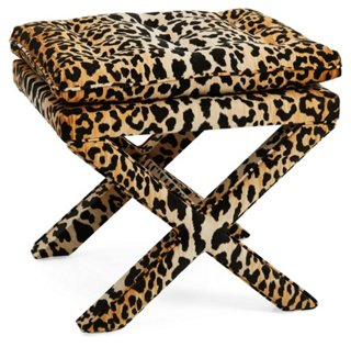 dalton pillow top ottoman leopard