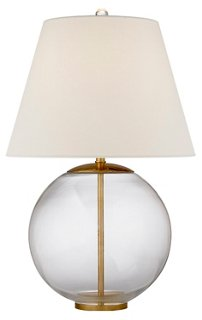 morton table lamp clear gild