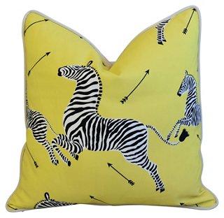 scalamandre zebra pillow