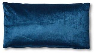 ada long lumbar pillow prussian blue velvet