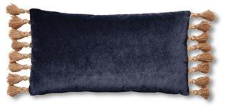 lou 12x23 lumbar pillow navy velvet