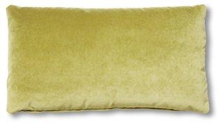 ada long lumbar pillow chartreuse velvet