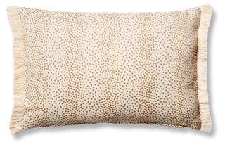 imogen 12x18 small lumbar pillow beige dots