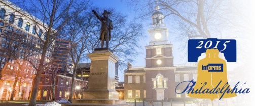 Conference in Philadelphia: INFORMS Annual Meeting 2015