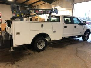 service body with crane by Oklahoma Upfitters