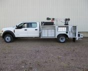 Tiger Crane with service body installed by Oklahoma Upfitters