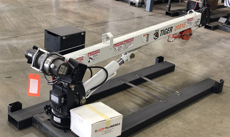 Tiger Cranes get installed by Oklahoma Upfitters in Edmond OK