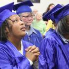 During the Victory Bible Institute graduation ceremony inmates reacted to a speech from Tulsa pastor Sharon Daugherty.