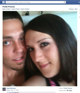 Carrie Marie Simmons died of a drug overdose in 2013. She is shown here with her husband Drew Dean Simmons.
