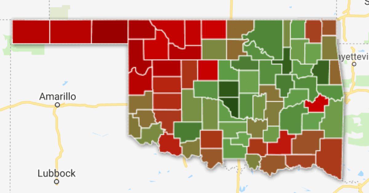 Mapping The Medical Marijuana Vote By County Oklahoma Watch