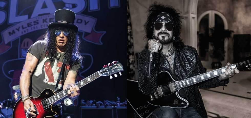 Slash, do Guns N´ Roses, e Nikki Sixx, do Mötley Crüe, celebram sobriedade