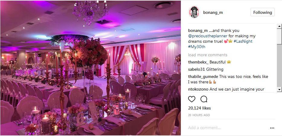 Pics Inside Bonang S Star Studded 30th Birthday Party
