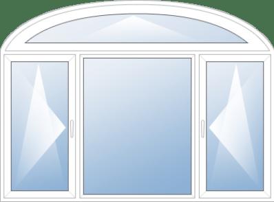 Арочные окна Rehau