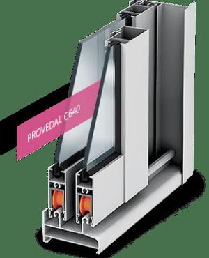 Алюминиевые окна Provedal С640