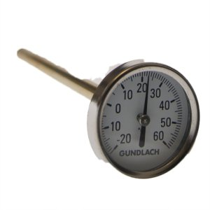 Jordtermometer i messinghylster