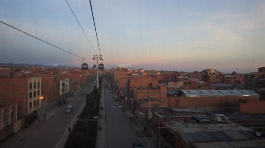 Vožnja žičarom kroz El Alto