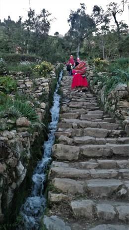 Stepenice i fontana iz doba Inka, Isla del Sol
