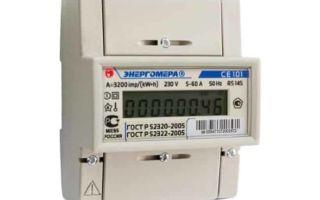 Счетчик энергомера се 101: технические характеристики