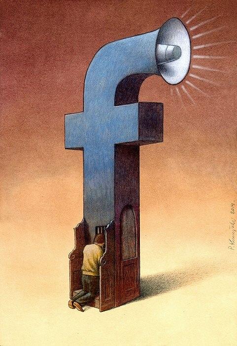 Rysunek satyryczny - Facebook - Paweł Kuczyński