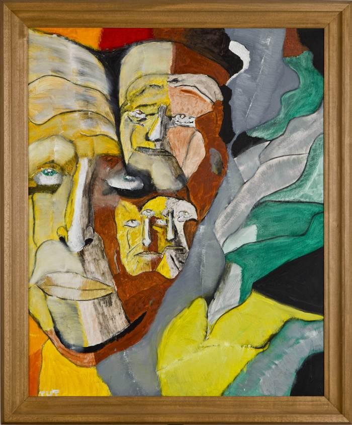 """Wojciech Tut Chechliński, """"Światy równoległe"""", olej na płótnie, 795 x 635 cm, 2013 r, sygnowany kat. 108"""