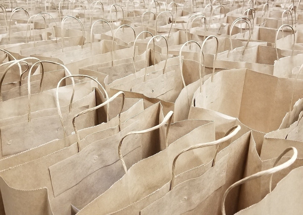 Empty Foodbank Paper Bags